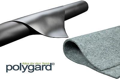 Polygard - Teichfolie 1 mm schwarz + Vlies 300 g -Grundpreis:5,19 €/m²