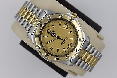 Tag Heuer 2000 Professional 964.006 Watch Mens Gold WE1120 WK1120 Mint Crystal