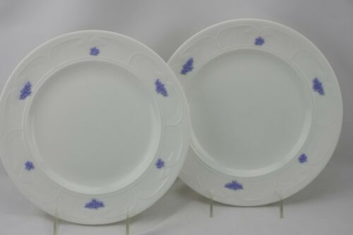 Adderley England Blue Chelsea Dinner Plates Set of 2 Vintage