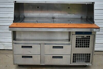 Duke 60 Refrigerated Prep Table With Refrigerated Rail