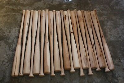 10 Brand New Wood Wooden Baseball Bats...ASH MAPLE Craft Quality BLEMS