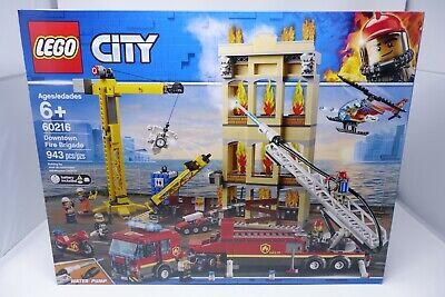 LEGO CITY Downtown Fire Brigade 60216 Tiller Truck Crane (New Sealed BOX)