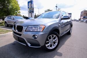 2013 BMW X3 XDRIVE28i AWD, Leather, Pano Sunroof, Rearview Cam