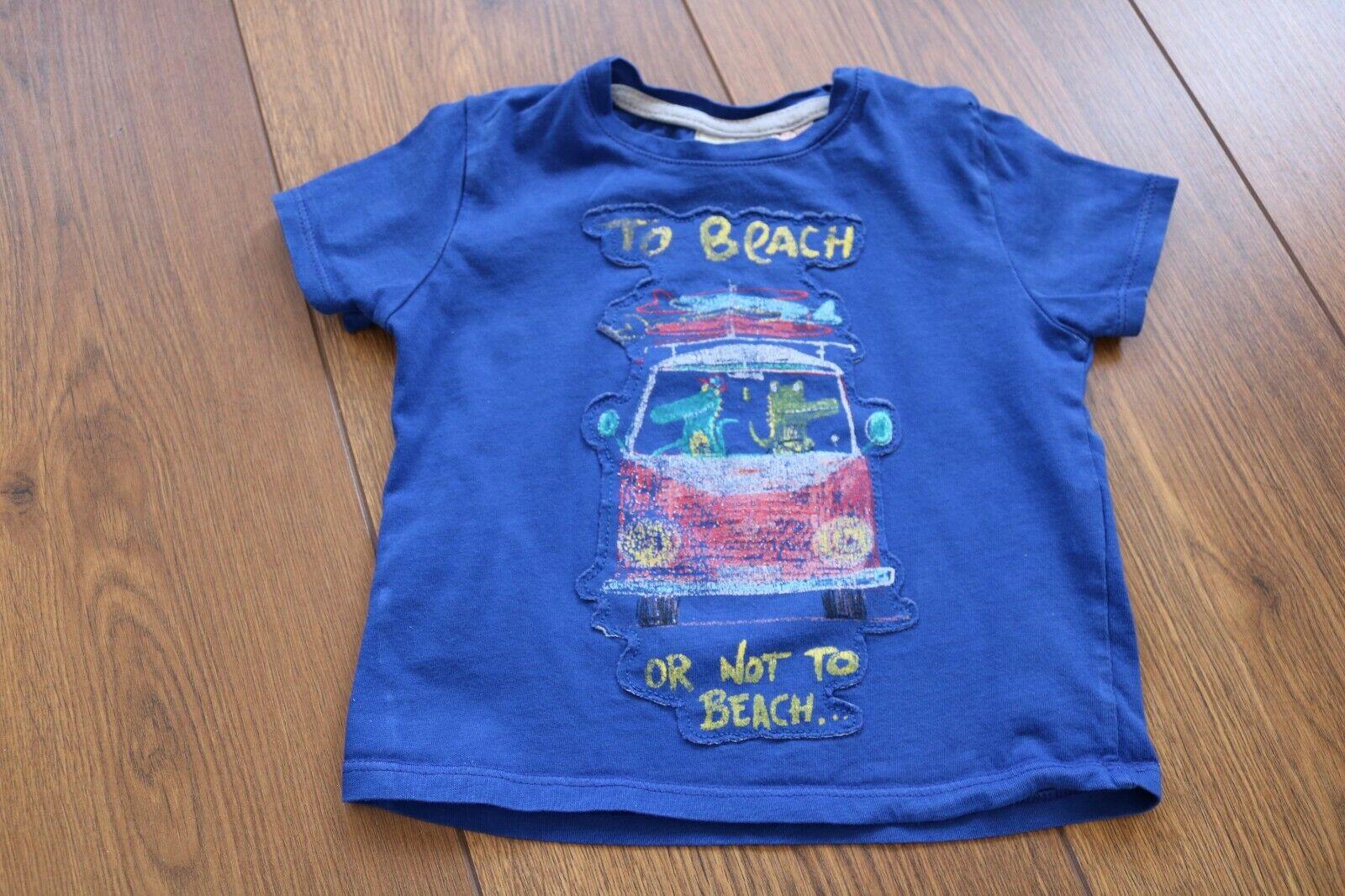 ZARA*T-Shirt Baby Jungen Gr. 74*blau,Beach,Shirt,Hemd,Top,Sommer,Jungs,Freizeit