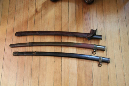 set of 3 WWII Imperial Japan Shin Gunto Katana scabbards