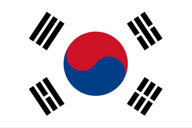 ***SOUTH KOREAN VINYL FLAG DECAL / STICKER***