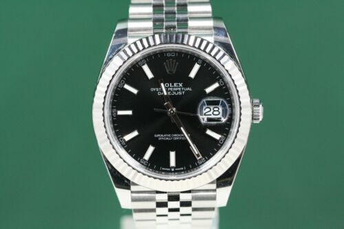 Rolex Datejust 41 126334 Stainless Steel Jubilee Band Black Index Dial  -unused-
