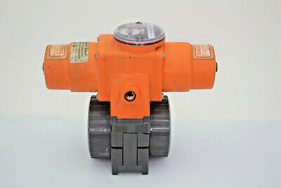 George Fischer Pa-20 Actuator With 1-12 346 Ball Valve Used