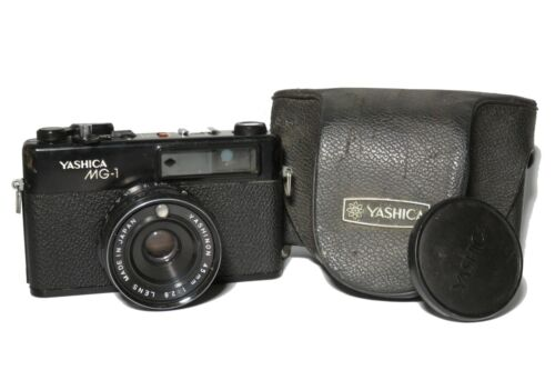 Yashica MG-1 35mm Rangefinder Film Camera Black Needs servicing For Fix parts