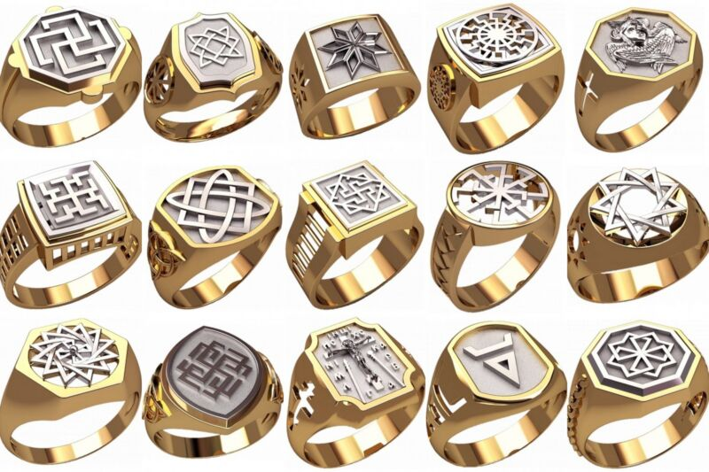 set of WAX PATTERNS (#m14) for Lost Wax Casting silver or gold Jewelry (15pcs)