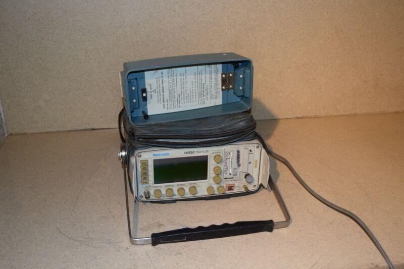 TEKTRONIX 1503C METALLIC TDR CABLE TESTER W/ MANUAL (TK4)