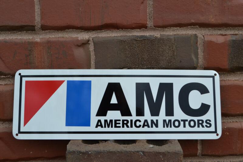 AMC Sign AMX GREMLIN JAVELIN American Motors Pacer Garage Mechanic 71 72 SIGN