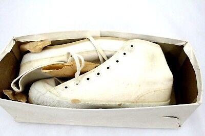 VTG BALL BAND White HIGH TOP Sneakers NOS Girls Sz 12 1/2 1950s RARE ATLANTA