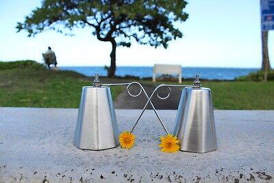 2 OCTAGON ULUA TREVALLY fishing BELLS, 304 STAINLESS STEEL, LOUD & HIGH PITCH