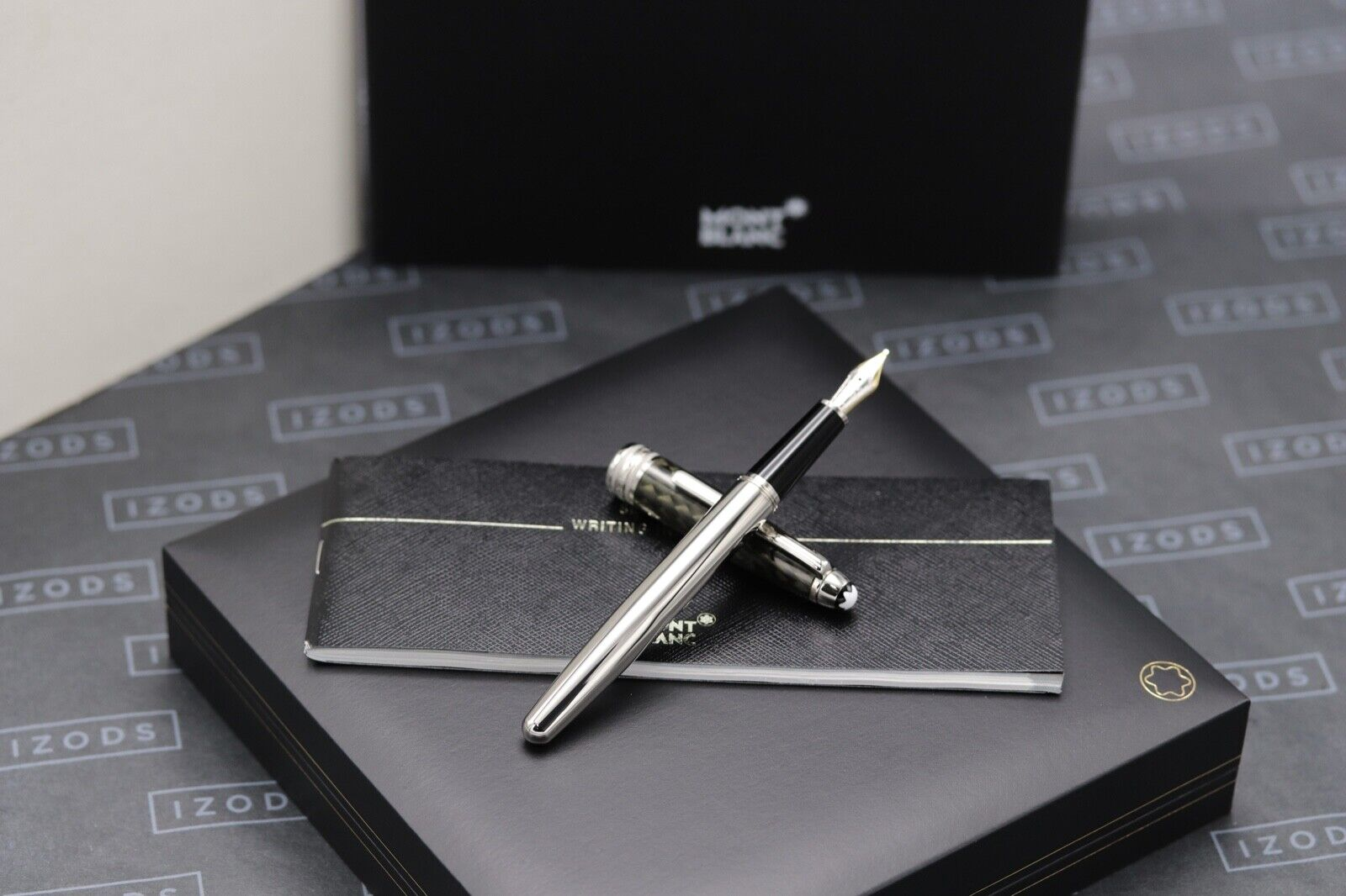 Montblanc Meisterstuck Classique Carbon Steel Solitaire Fountain Pen - UNUSED