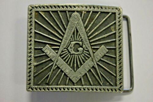 Free Mason Masonic Metal Belt Buckle