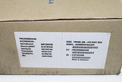 Motorola Pm400 Uhf 438-470 Mhz 64 Ch 25 Watt Mobile Radio New Os