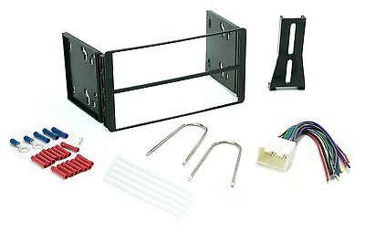 Double Din Dash Kit for Ford Car Radio Stereo Install Installation Wire Harness (Ford Radio 1995)