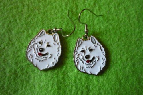 SAMOYED DOG EARRINGS