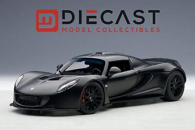 Autoart 75401 Hennessey Venom Gt Spyder  Matt Carbon Black 1 18Th Scale