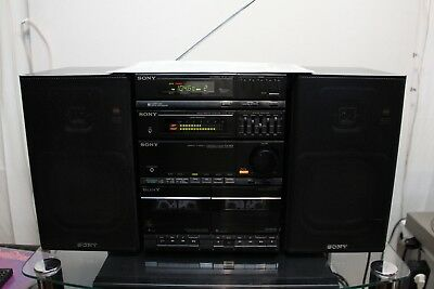 SONY FH-404 HIFI STEREO CASSETTE GHETTOBLASTER BOOMBOX EQUALIZER RADIO JAPAN TOP