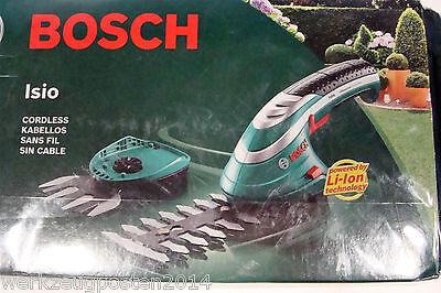 Bosch Isio 3,6 Li-Ion Akku- Strauch- und Grasscheren- Set NEU OVP, 550 Gramm