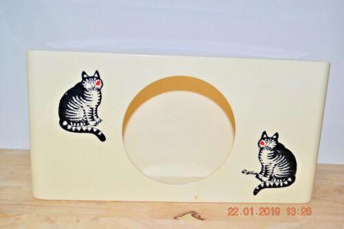Kliban Cat Tissue Box Plastic vintage Aquetta Ware USA