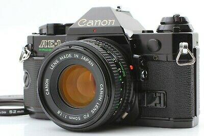 [Near Mint] CANON AE-1 Program SLR Camera w/ NFD 50mm f1.8 Lens from JAPAN 0503A