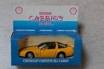 SHELL CABRIO's scale 1/36-38 CHEVROLET Corvette ZR1 car metal voiture auto model
