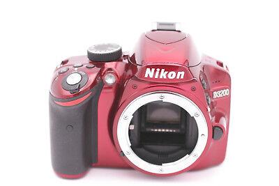 Nikon D3200 24.2MP Digital SLR Kamera - Rot (nur Body) (Digitale Slr-kamera, 3200)