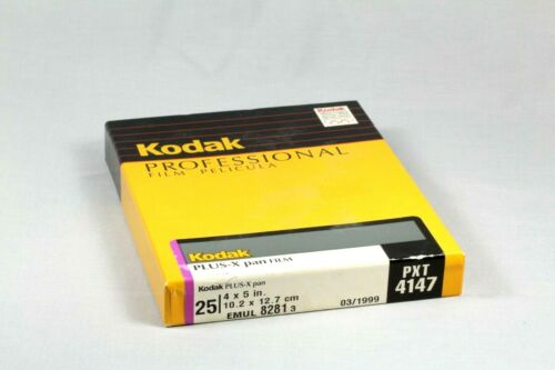 Kodak Plus-X Pan 4x5 Film 25 Sheet Box- Expired