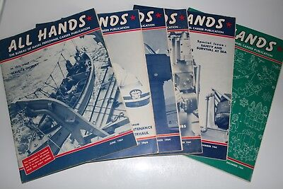All Hands, The Bureau of Naval Personnel Career Publication 6 Issues 1964