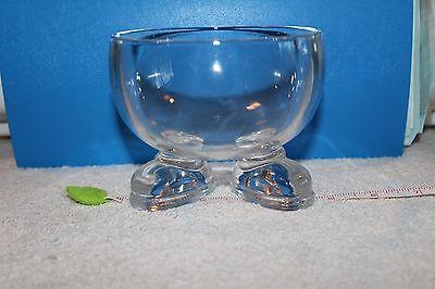 RARE VINTAGE LUMINARC MR FOOT CLEAR GLASS BOWL! (FRANCE) ()