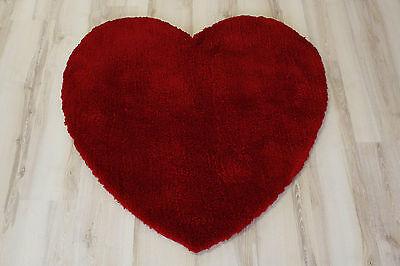 Langflor Soft Shaggy Herz Teppich 100x100 cm rot ()
