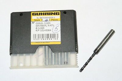 New Guhring 9055150030000 3mm Solid Carbide Standard Jobber Length Drill Firex