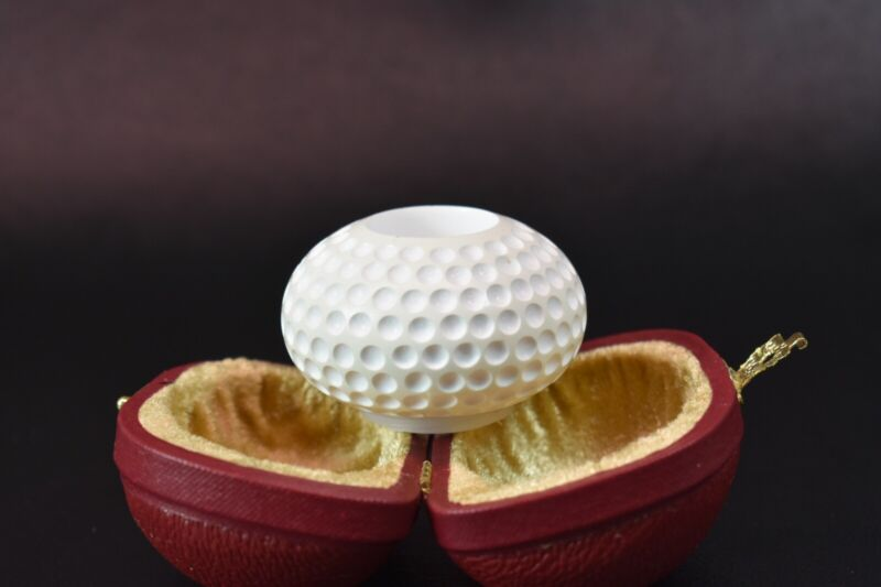 Squashed Golfball Bowl For Falcon Pipes  Block Meerschaum New Handmade#1280