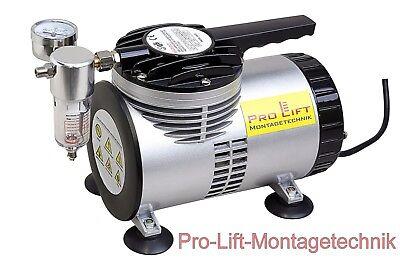 Vakuumpumpe AS26 Airbrush Single-Membran ölfrei pulsationsfrei 68L/min  02348