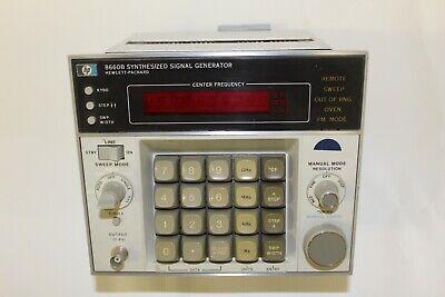 Hewlett Packard 8660b Synthesized Signal Generator 10k To1399 Mhz 150db Range