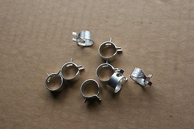 NOS 1970 Boss 429 original gas hose clamps U trademark in clamp set of 8