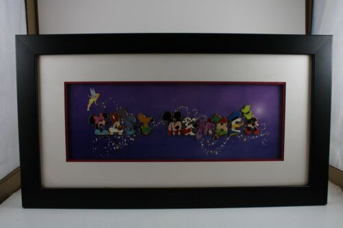 Disney DLR LE 200 Framed 10 Pin Set Cast Member Exclusive Character Letters