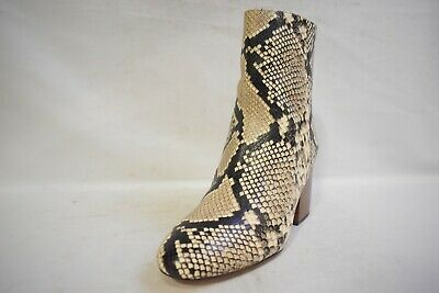 J. Crew Sadie Snakeskin- Printed Women's Leather Ankle Boots SZ 8