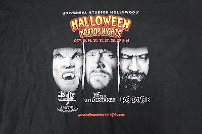 3XL UNIVERSAL HALLOWEEN HORROR NIGHTS 2000 TSHIRT Rob Zombie Hollywood Buffy - Halloween Horror Nights Hollywood