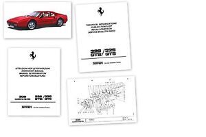 Ferrari-308-GT4-QV-328-manuale-riparazione-officina-CD-workshop-repair-manual