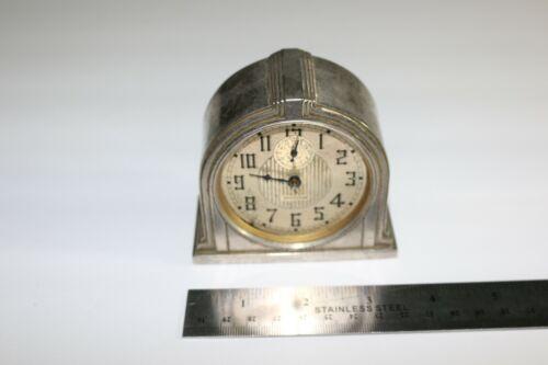 Antique wind-up ART DECO style Westclox Western Clock Company model 61-D WORKS!