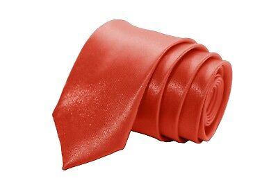 hmal Anzug Hochzeit dünn Satin Business Schlips Wedding Rot (Dünne Rote Krawatte)