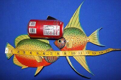 "(2) Realistic Seafood Decor Vivid Colors Coral Reef Fish 3-D, 8"", 100 214"