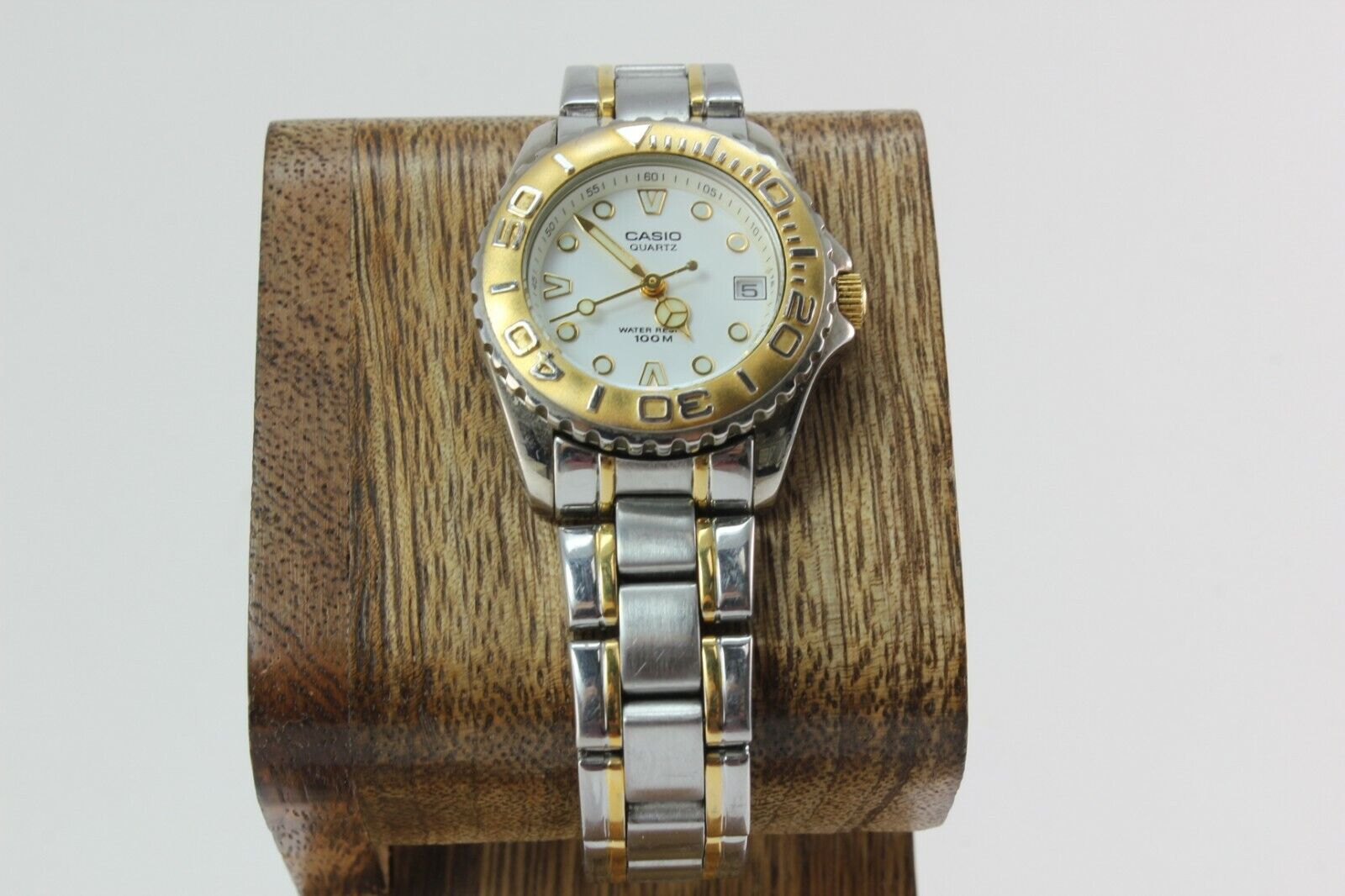 Casio White Dial Two Tone Stainless Steel Womens Watch LTD-1017 FREE SHIPPING!