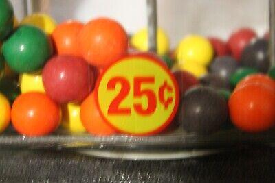 **** NORTHWESTERN VINTAGE GUMBALL MACHINE .25c PRICE DECAL NEW *****