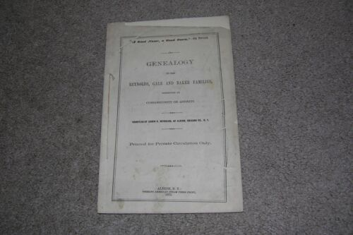 1875 Genealogy Reynolds, Gale & Baler Families