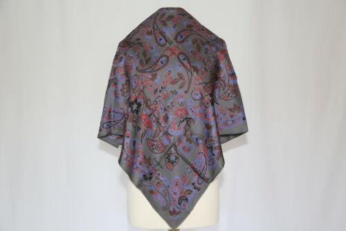 Rare Per Spook Paris luxury designer silk twill scarf vintage Paisley Square